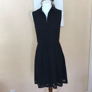 NWT Kensie cinched waist button-up collared dress